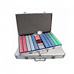 1000 PC Aluminum Poker Clip Case